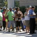 In North Carolina, early voting was down among African Americans