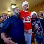 Actors Kevin Hart and Ice Cube visit Harding High, with an assist from Cam Newton