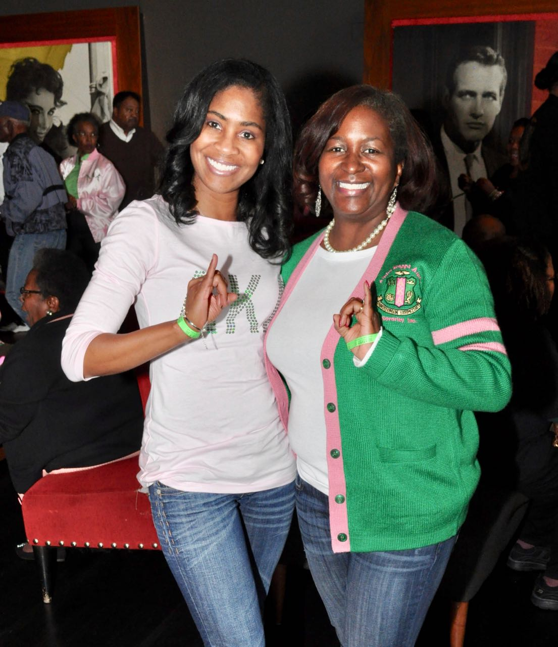 "More than 300 people bought tickets to attend AKA Day at the Movies at Studio Grill in Charlotte, which featured the film ""Hidden Figures."" The event, held to commemorate the 109th year of Alpha Kappa Alpha Sorority, Inc., was hosted by the Alpha Lambda Omega chapter. The event also celebrated the achievements of Katherine Johnson, Dorothy Vaughan and Mary Jackson, three AKA members whose career accomplishments were depicted in the movie. (Photo: Qcitymetro.com)"