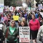 Scene at the Women's March on Charlotte (Photo Gallery)