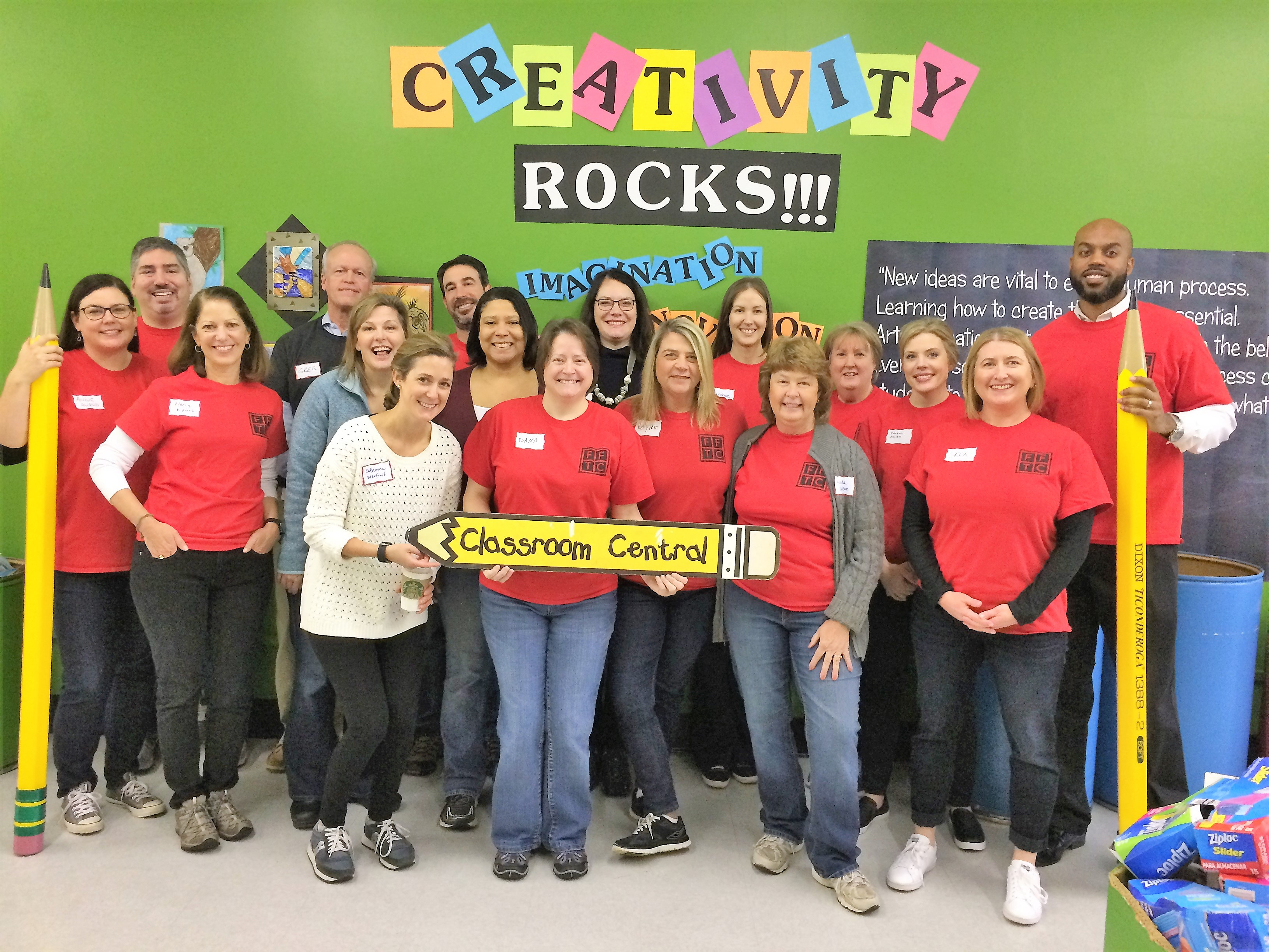 Foundation For The Carolinas staff lends a helping hand to Classroom Central.