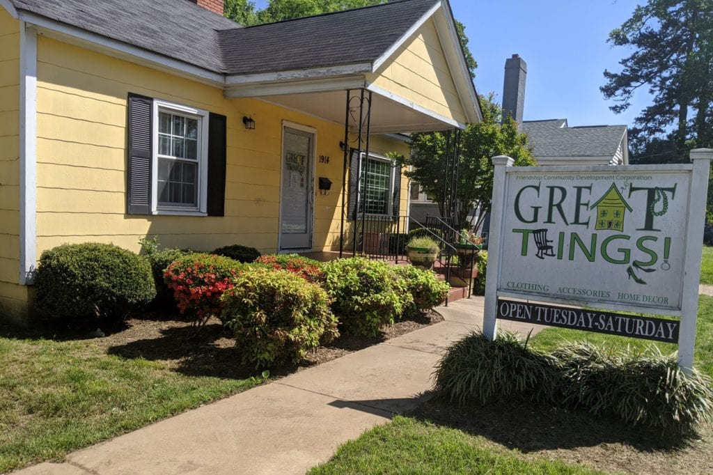 Great Things boutique, located at 1914 Beatties Ford Road, generates revenue to support transitional housing for homeless women.