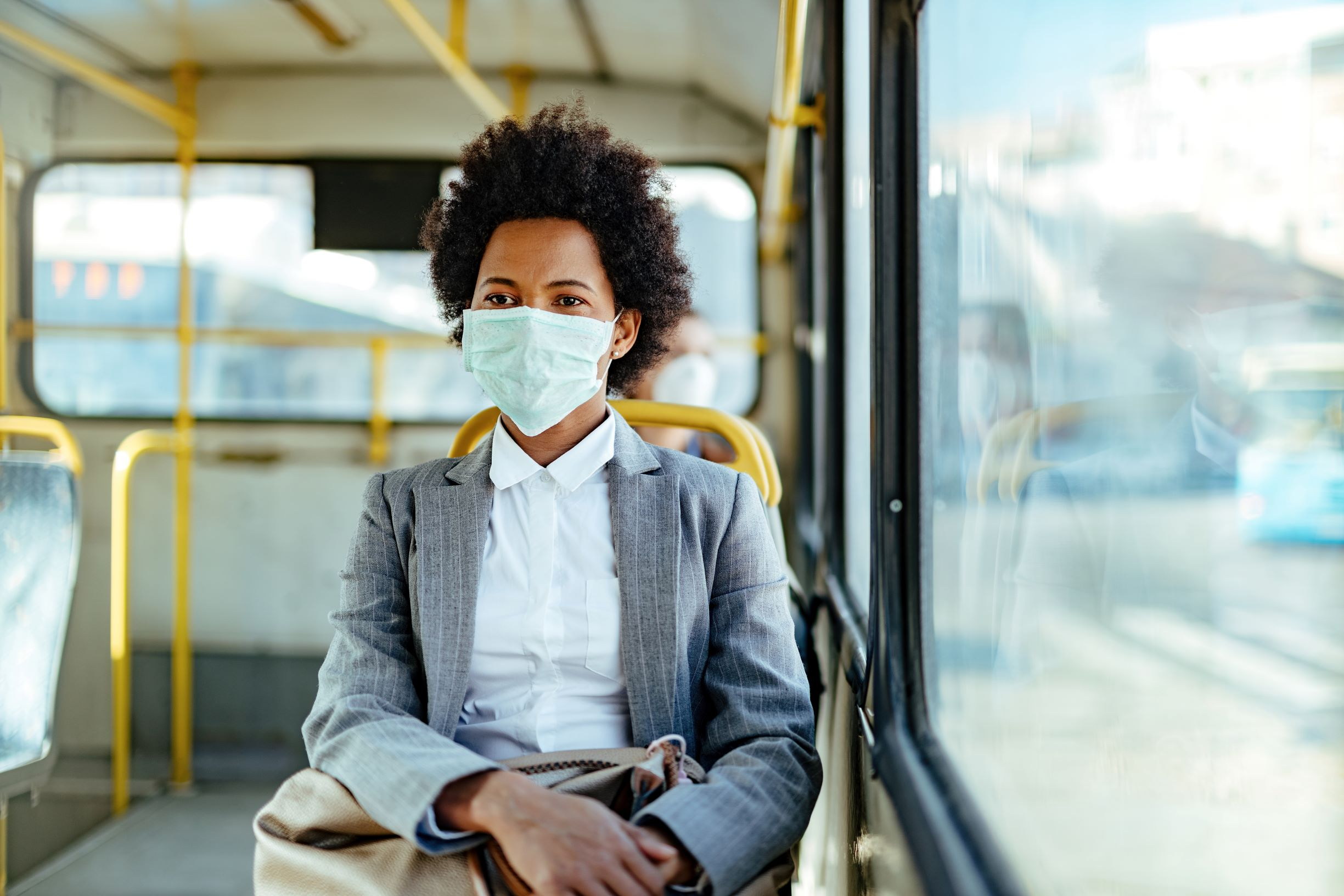 Black-woman-mask-public-transportation